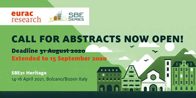 SBE21 Heritage – Extended deadline for abstract submission